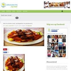 Sate ku batata (saté, aardappelen en pindasaus)