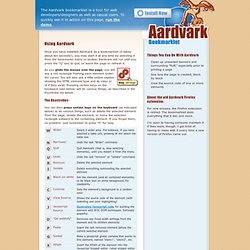 Aardvark Firefox Extension