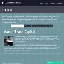 Registered Investment Advisor in Jupiter, Florida - Aaron Brask Capital