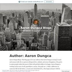 Aaron Dungca – Aaron Dungca Blogs