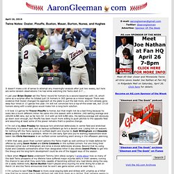 AaronGleeman.com » Aaron Gleeman's Baseball and Minnesota Twins Blog