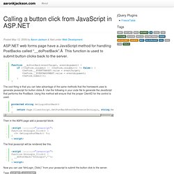 Calling a button click from JavaScript in ASP.NET