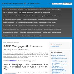 AARP Mortgage Life Insurance Best Top 10 in 2017