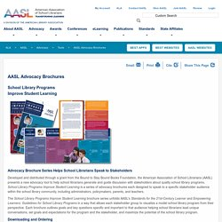 AASL Advocacy Brochures