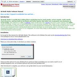 AB Bulk Mailer tutorial