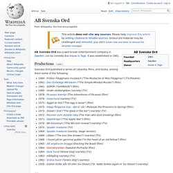 AB Svenska Ord - Wikipedia