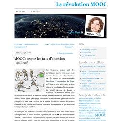 MOOC: ce que les taux d'abandon signifient
