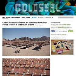 Cinéma abandonné dans le désert du Sinai