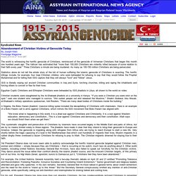 Abandonment of Christian Victims of Genocide Today