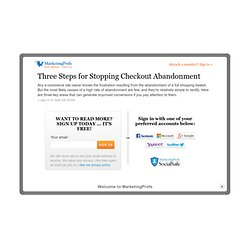 Web Sites - Three Steps for Stopping Checkout Abandonment