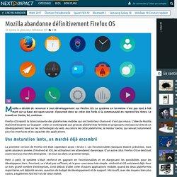 Mozilla abandonne définitivement Firefox OS
