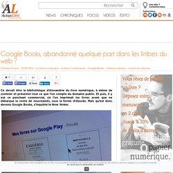 Google Books, abandonné quelque part dans les limbes du web ?