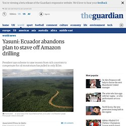 Equateur/Pays riches/Environnement