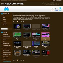 Download 285 different Role-Playing (RPG) games on my abandonware .com - page 4