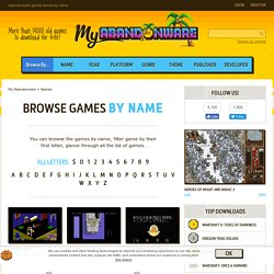 Abandonware games sorted by name - My Abandonware