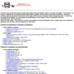 Abandonware : des logiciels devenus gratuits ! (par les BSA)