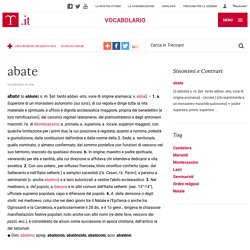 abate in Vocabolario