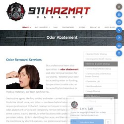 Odor Abatement services - 911hazmatcleanup