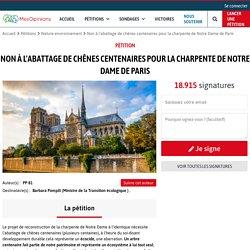 Non à l'abattage de chênes centenaires pour la charpente de Notre Dame de Paris