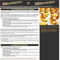 Les seuils et abattements, micro-entreprise et auto-entrepreneur.