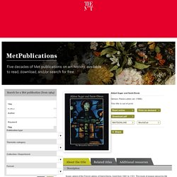 MetPublications: Free eBooks