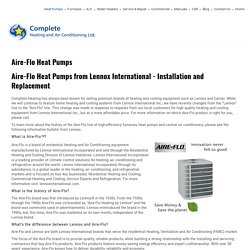 Abbotsford - Langley - Heat Pump Installation and Sales - Lennox Heat Pumps - Aire-Flo Heat Pumps