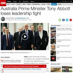 Tony Abbott loses leadership fight