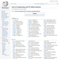 List of computing and IT abbreviations