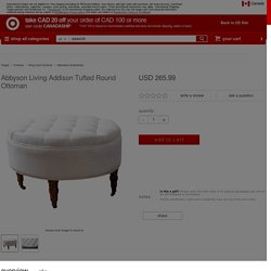 Abbyson Living Addison Tufted Round Ottoman