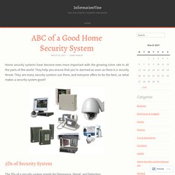 ABC of a Good Home Security System