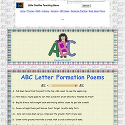 ABC letter formation poems