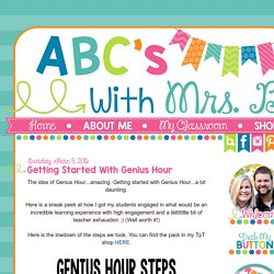 ABCs with Mrs. B: Getting Started with Genius Hour