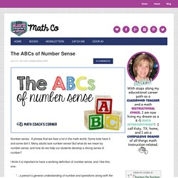 The ABCs of Number Sense - Math Coach's Corner