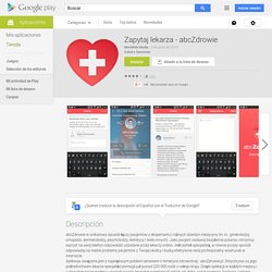 Zapytaj lekarza - abcZdrowie - Aplicaciones de Android en Google Play