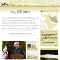 The Abdication of Iran