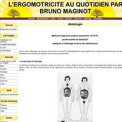 Abdologie - L'ERGOMOTRICITE AU QUOTIDIEN PAR BRUNO MAGINOT