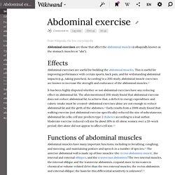 Abdominal exercise - Wikipedia, the free encyclopedia