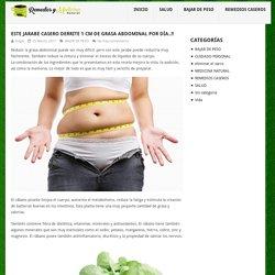 Este jarabe casero derrite 1 cm de grasa abdominal por día..!! - Remedios y Medicina Natural