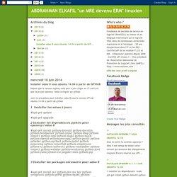 "ABDRAHMAN ELKAFIL ""un MRE devenu ERM"" linuxien : Installer odoo 8 sous ubuntu 14.04 à partir de GITHUB"