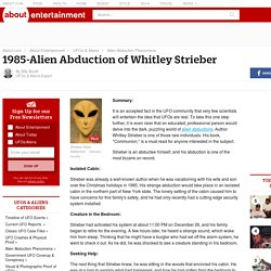 1985-Alien Abduction of Whitley Strieber