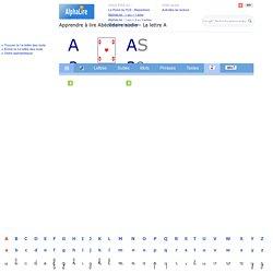 Abécédaire - Lettre A - Image + audio - Initiation à la lecture