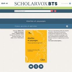 Abeilles et paysages : Enjeux apicoles et agricoles - ScholarVox CDI BTS