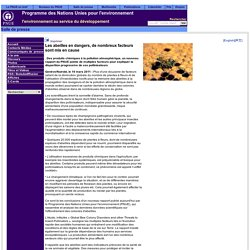 Les facteurs mis en cause par l'UNEP