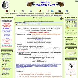 Abeilles GSA-GDSA 94 et 75 - Téléchargements