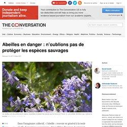 THE CONVERSATION 16/02/17 Abeilles en danger : n'oublions pas de protéger les espèces sauvages