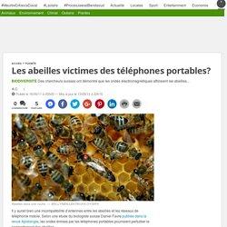 Les abeilles victimes des téléphones portables?