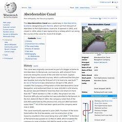 Aberdeenshire Canal