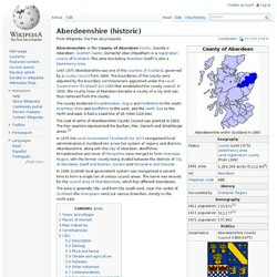Aberdeenshire (historic)