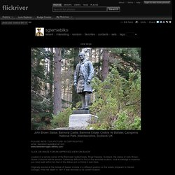 John Brown Statue, Balmoral Castle, Balmoral Estate, Crathie, Nr Ballater, Aberdeenshire, Scotland, UK