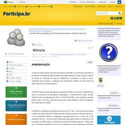 Minuta - Plano de Dados Abertos do Exército Brasileiro